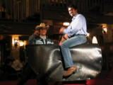 Me and Tim riding a bull