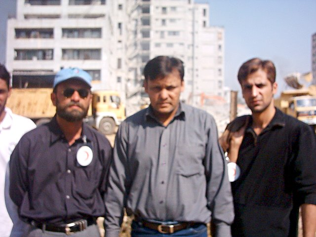 In front of Margalla Towers in Islamabad
