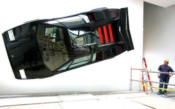 Lamborghini Countach on the wall