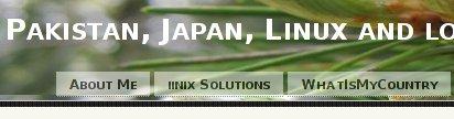Blog banner in Firefox