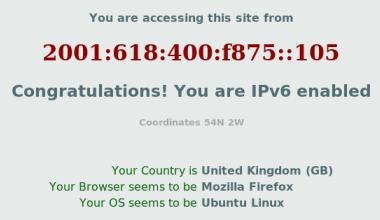 IPv6 screenshot