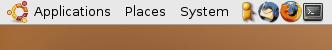 Ubuntu menu and icons