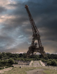 Eiffel tower decomposing