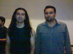 Feef the drummer with Tayyab