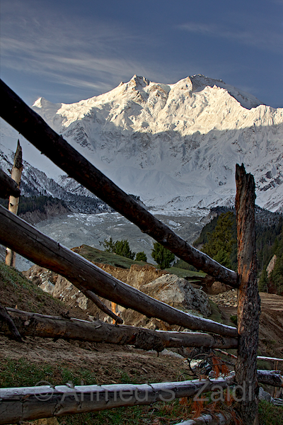 Nanga Parbat view from Fairy Meadows