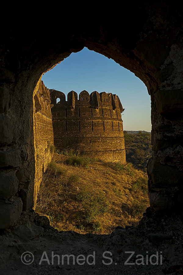 Rohtas Fort bastion framed