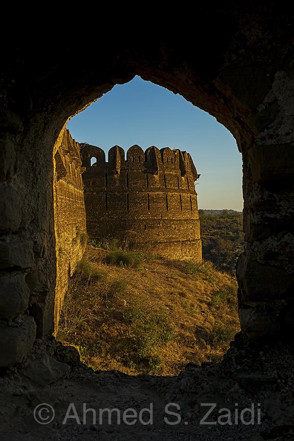Rohtas Fort bastion framed