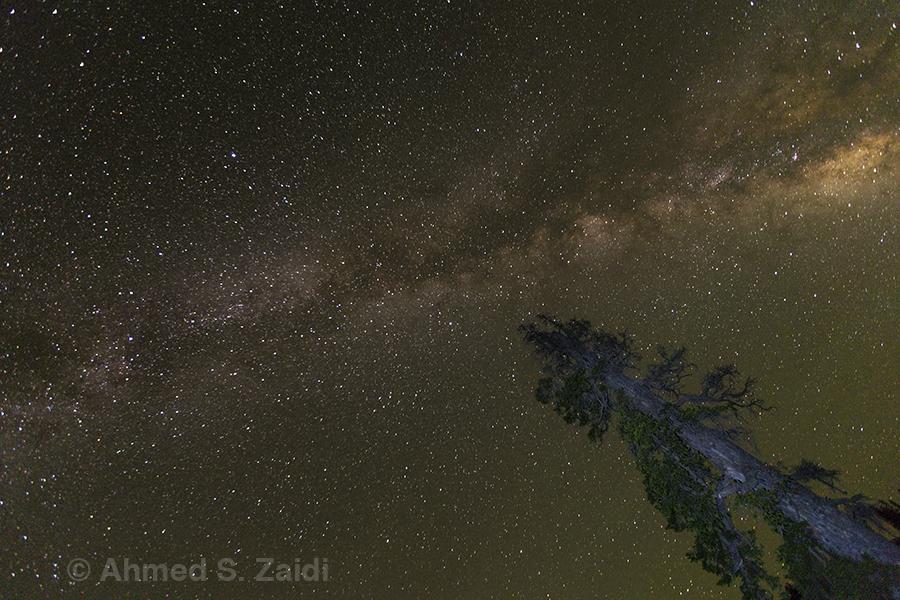 Milky Way light painting