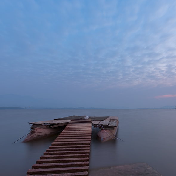 Rawal Lake Jetty Sunrise