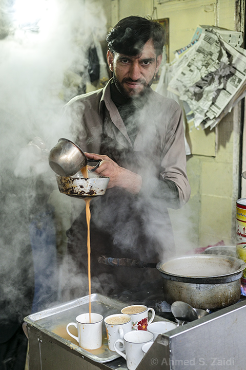 Steaming hot milk tea Rawalpindi