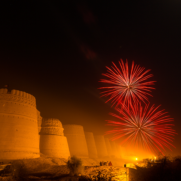 Cholistan Desert Jeep Rally fireworks