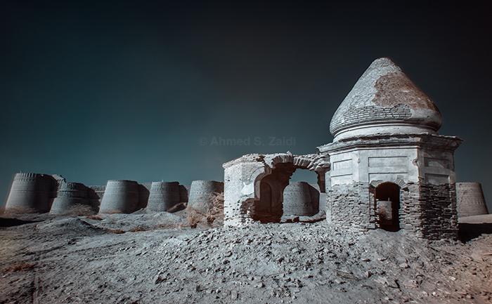 Derawar Fort ruins infrared