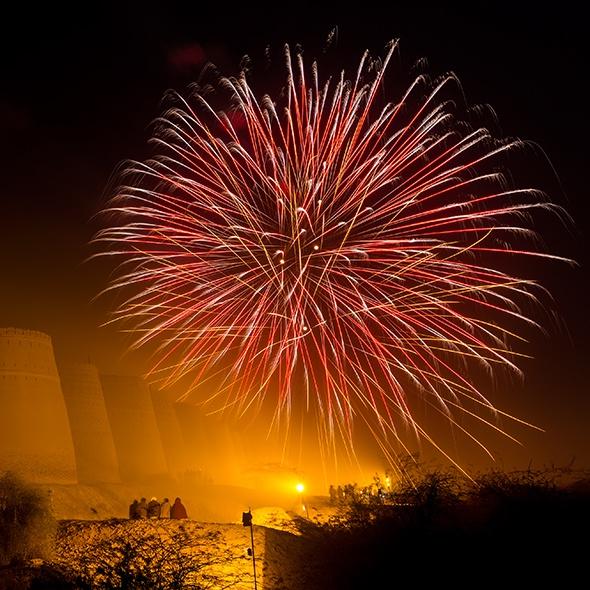 Desert bonanza fireworks Derawar Fort