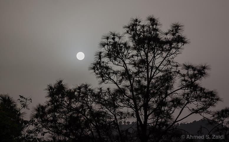Margalla Hills sun silhouette