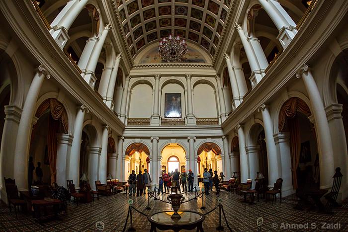 Noor Mahal interior fisheye
