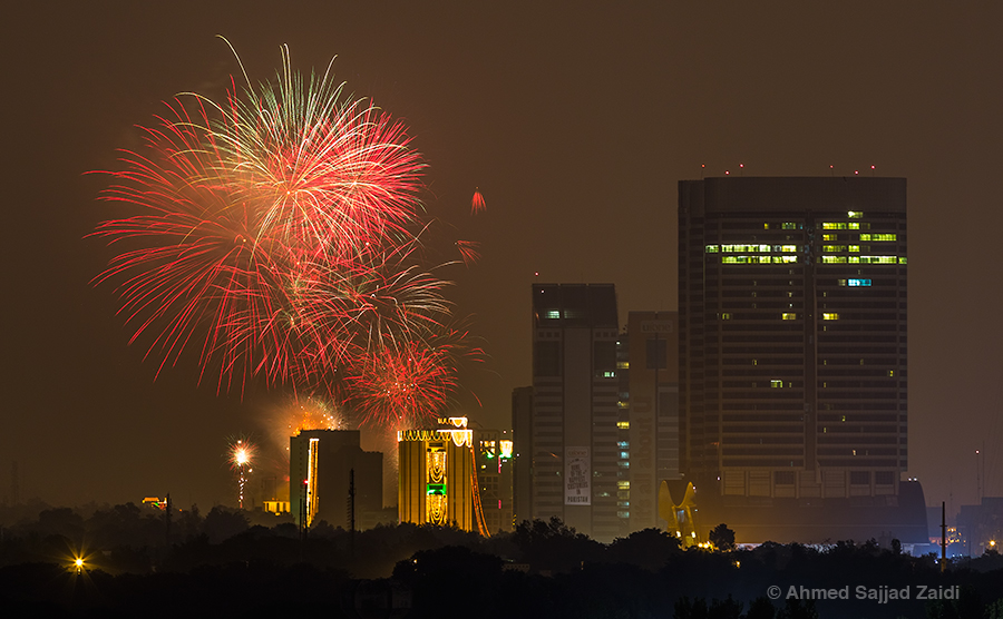 Islamabad 14 August fireworks