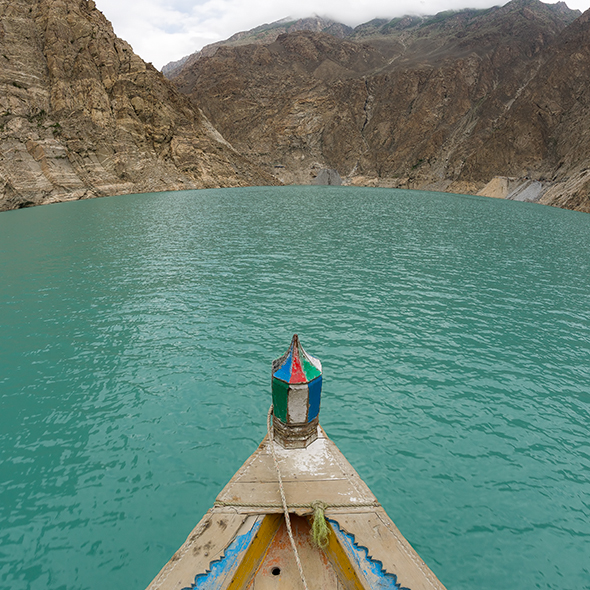 Fisheye View of Attabad Lake