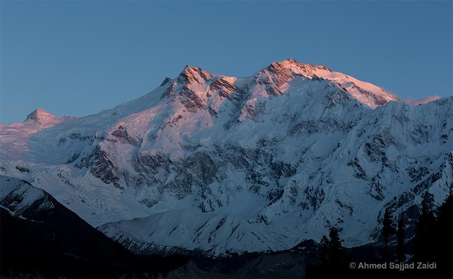 Nanga Parbat at dusk