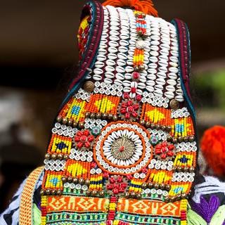 The Headdress of a Kalashi Woman