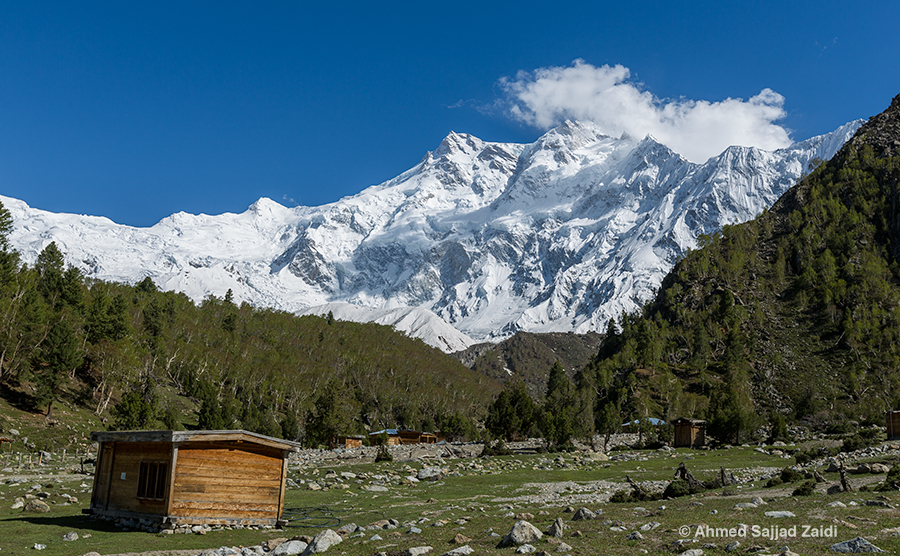 Nanga Parbat clouds Buhl Camp
