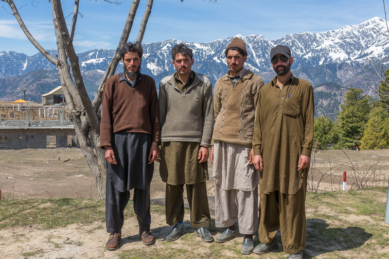 Babar, Shams, Arif and Shoaib the local porters from Kiwai