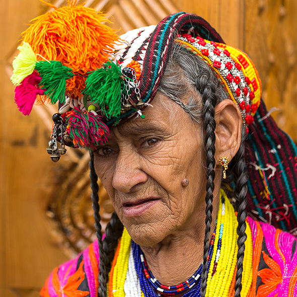 Kalash Woman Portrait